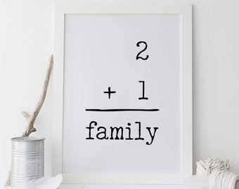 Family Print, Baby Shower Gift, Gallery Wall Art