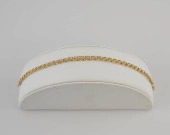 14k Yellow Gold Double/Dual Circle Chain Link Bracelet
