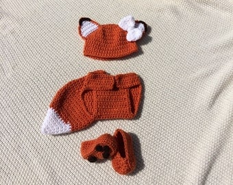 Newborn Fox Outfit, Photo Prop, Baby Fox Outfit, Fox Tail, Baby Fox Costume, Baby Shower Gift, Fox Outfit, Fox Costume, Baby Fox Clothes