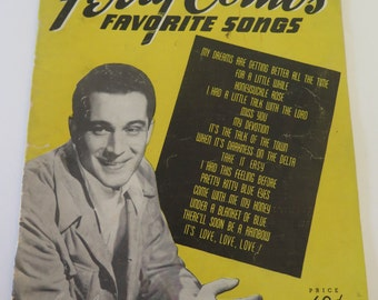 Vintage Sheet Music, Perry Como's Favorite Songs, 1940s, Foxtrots, Waltzes and Rhumba