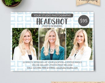 Headshot Photo Sessions Template, Headshots Mini Sessions, Real Estate Portraits, Business or Corporate Photography Marketing, Photoshop