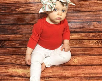Baseball Headwrap- Baseball Headband; Baseball Bow; Mommy and Me Headbands; Infant Headband; Newborn Headband; Baby Headband; Headwrap