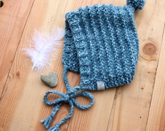 The Ivy Bonnet[] Knit Pixie Bonnet [] Pixie Hat [] Knit Bonnet []  Gnome Hat []