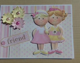 Female friendship card * Girls friendship card * Friend