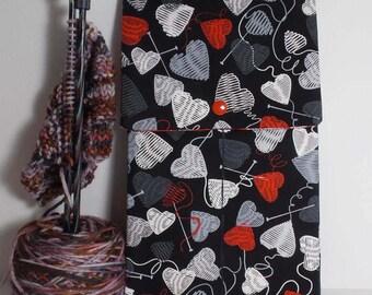"Yarn Heart 10"" Knitting Needle Case"