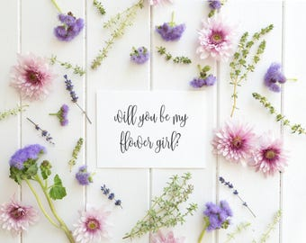 Will You Be My Flower Girl, Will You Be My Flower Girl Proposal, Be My Flower Girl, Flower Girl Wedding Card, DIY wedding Invitation, pdf