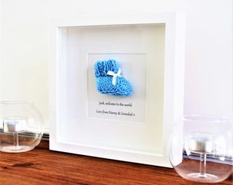 Baptism gift - Christening gift - Nursery decor - Baby shower gift - Baby boy gift - Gift for Grandson - Gift for Godson - Free UK postage
