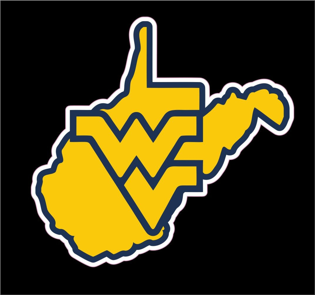 West Virginia University Decal WVU Mountaineers Sticker