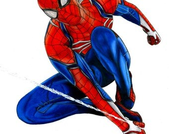 Spiderman PS4 - Matte Print