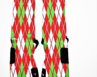 Christmas Argyle Nike Elite Socks