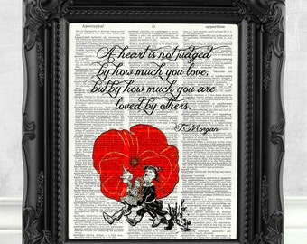 Wizard of Oz Print Tin Man Heart Quote Wizard of Oz Gift Wizard of Oz Quote Wizard of Oz Decor Best Friend Gift Motivation Quote Art  C:26