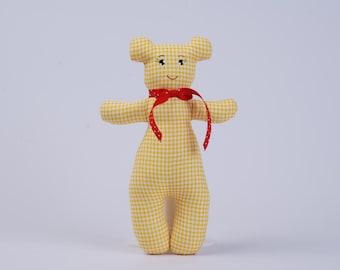 Yellow Teddy Bear Plush Toy Huggable Bear Teddy Bear Smiling Teddy Bear