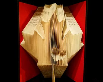 Canadian Maple Leaf - Folded Book Art - Unique Canada Art
