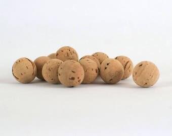 Cork beads / cork balls 10 units