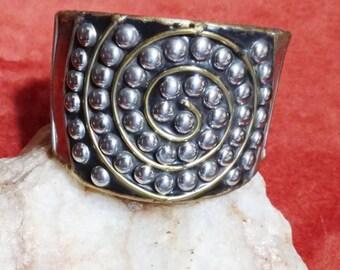 Multi Metal Cuff Bracelet