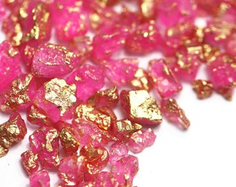Pink Goldirocks Gilded Rock Sugar, Gold Rock Sugar, Gold Nuggets , Chunky Sugar, Pink Rock Sugar, Gold leafFancy Sprinkles