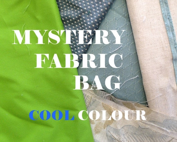 0.5kg Mystery Fabric Bag - COOL Colours