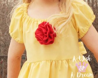 Belle Dress/Belle Costume/Princess Dress/Princess Costume/Girls Costume/Girls Gift/Costumes for Girls/Girls Halloween/Girls Dress