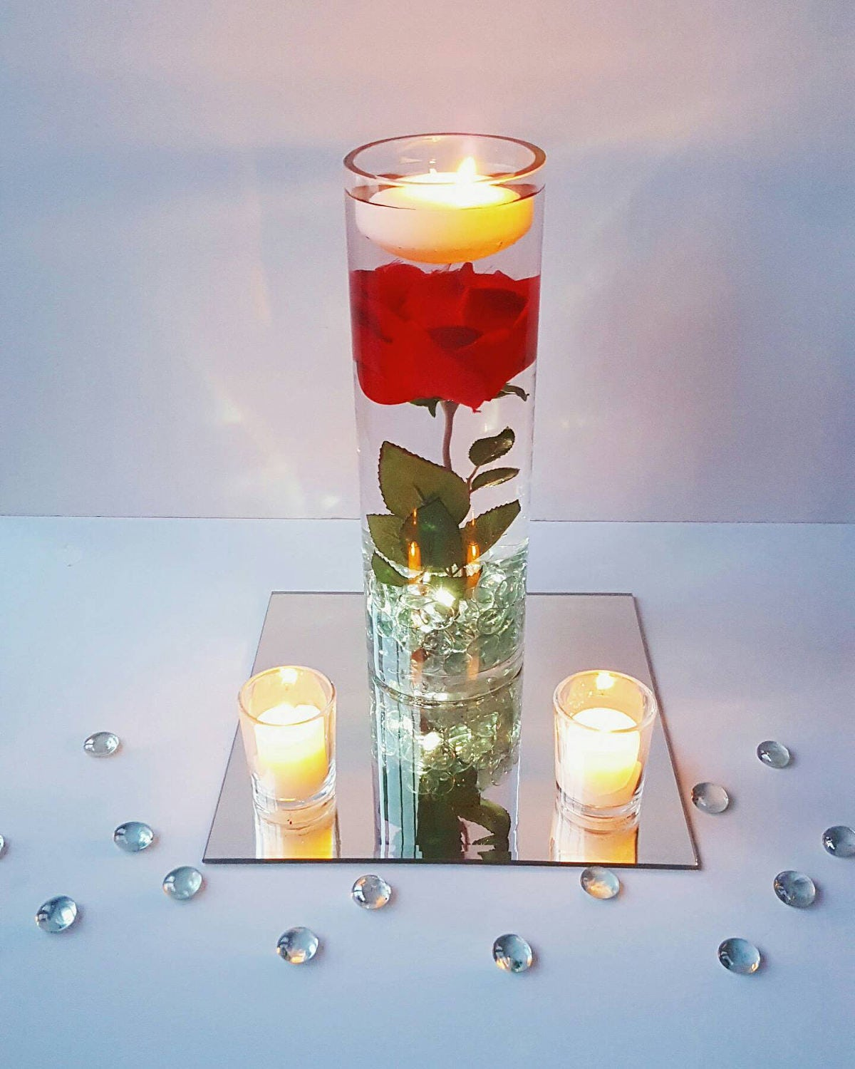 Floating Candles Centerpieces Ideas For Weddings: Floating Candle Centerpiece Rose Centerpiece Beauty And The