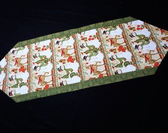 Christmas table runner  Modern table runner  Holiday table runner