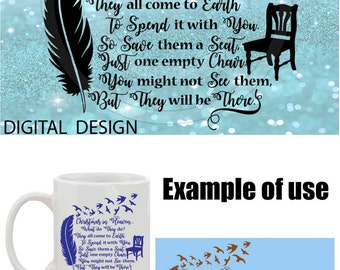 Christmas in Heaven Digital Cutting file design Silhouette Cameo Clipart svg jpg png dxf monogram iron on heat transfer loved ones family 52