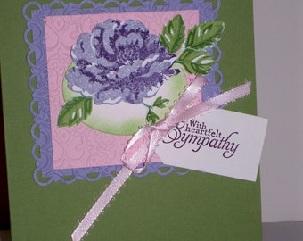 Blossomed Sympathy Card