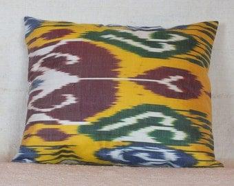 Turkish Ikat Pillow, 20x16 Pillow Case