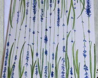 Watercolor, Lavender