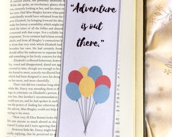 Up Disney Quote Bookmark