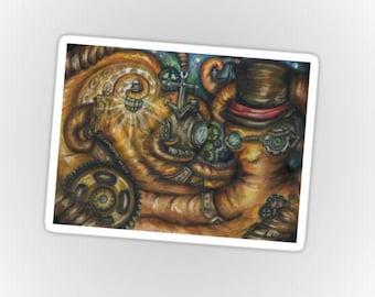 Octopus Steampunk Sticker