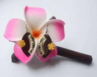 Coconut earrings