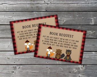 Book Request - Lumberjack Theme - PRINT AT HOME