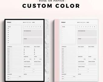 Custom Color Printable Planner Inserts
