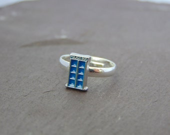 Doctor Who Tardis Police Box Ring