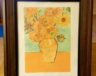 Acrylic Painting 'Soul through flowers' by JF,  Style a Vincent Van Gogh