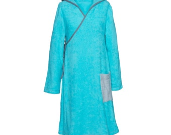 Terry dress - blue sea