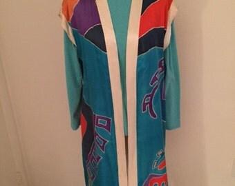 Aztec Inspired Satin Coat