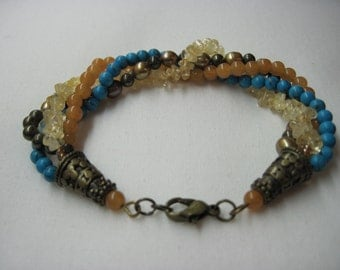 Durban Turquoise and Citrine Bracelet