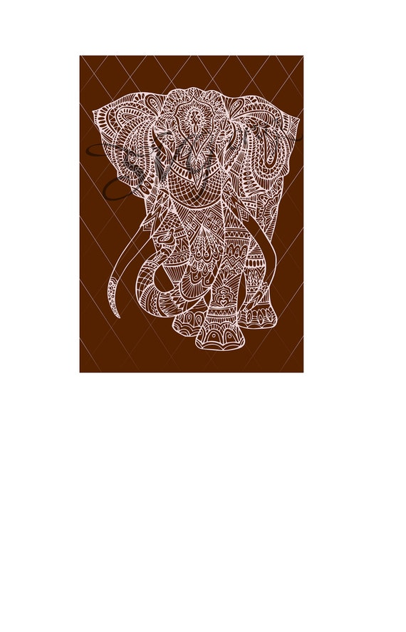 Elephant Mandala Svg Dxf Png Jpeg by SVGcraze on Etsy