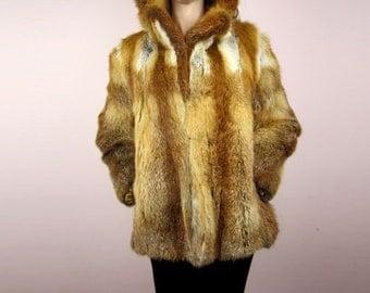 vintage Red Fox winter coat jacket S M