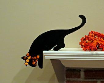 Wooden Cat Mantel/Doorway Decor