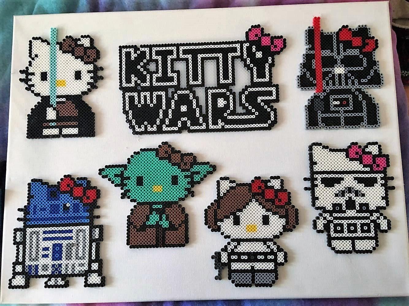 Design your own hello kitty t-shirt - Star Wars Kitty Wars Perler Bead Art
