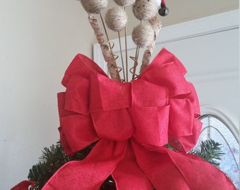 Beautiful Snowman Christmas Tree Topper * One of a Kind * Rustic Look