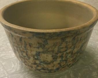 Red Wing Spongeware Bowl Marked