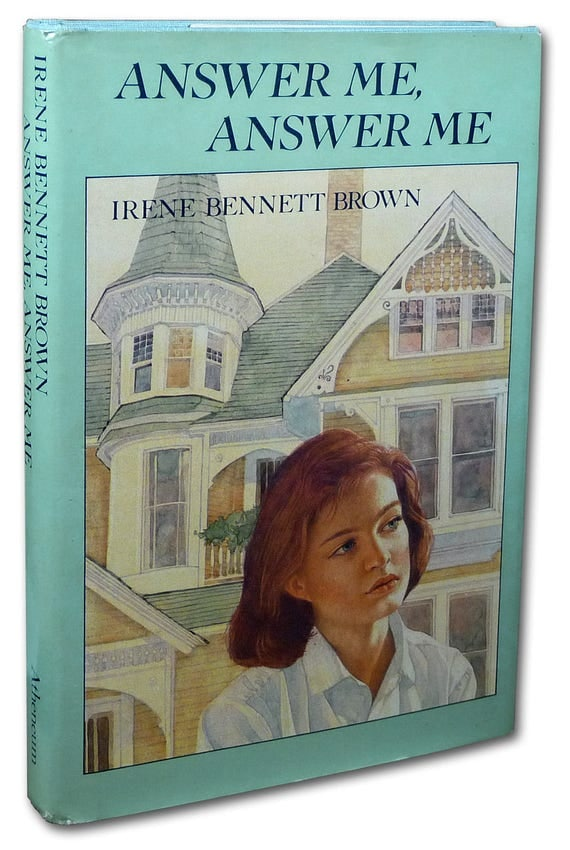 Answer Me, Answer Me 1985 by Irene Bennett Brown 1st Edition Hardcover HC w/ Dust Jacket DJ - Family Mystery Drama YA Fiction