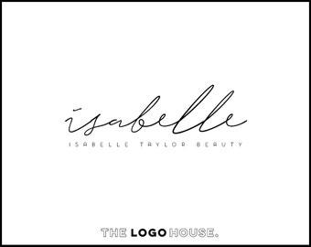 Signature Logo Design, Modern Premade Logo, Elegant Script Logo, Simple Signature Logo, Elegant Logo, Makeup Artist Logo, Handwritten Logo