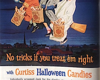 Vintage 1962 Life Magazine Ad for Halloween Candy