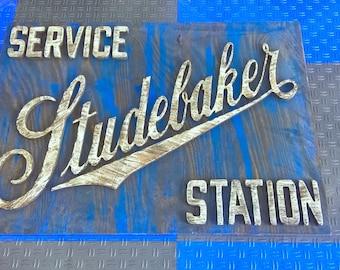 Wooden Studebaker Sign Recreation