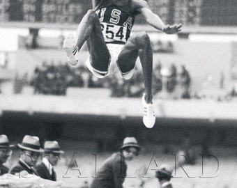 Bob Beamon, 1968 Olympics, Long Jump, Olympics, Olympic Rings, Track and Field, 8x10, 11x14, 16x20 (TSS228)