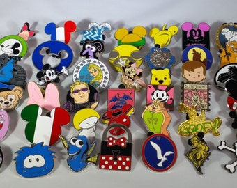 Set of 100 Disney Pins- Assorted Variety + FREE SHIPPING